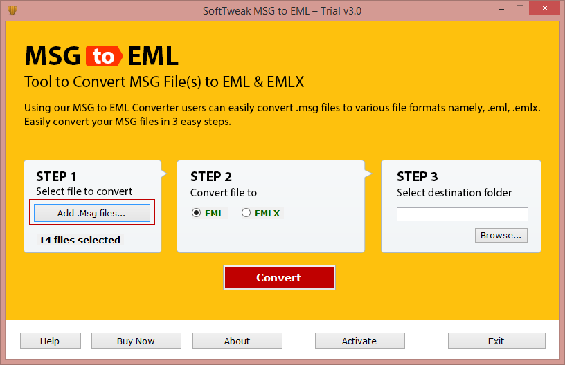 .msg file converter to .eml