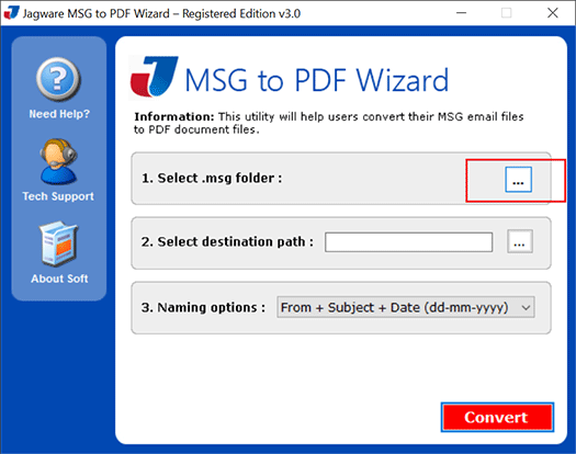 Read Outlook MSG File to PDF