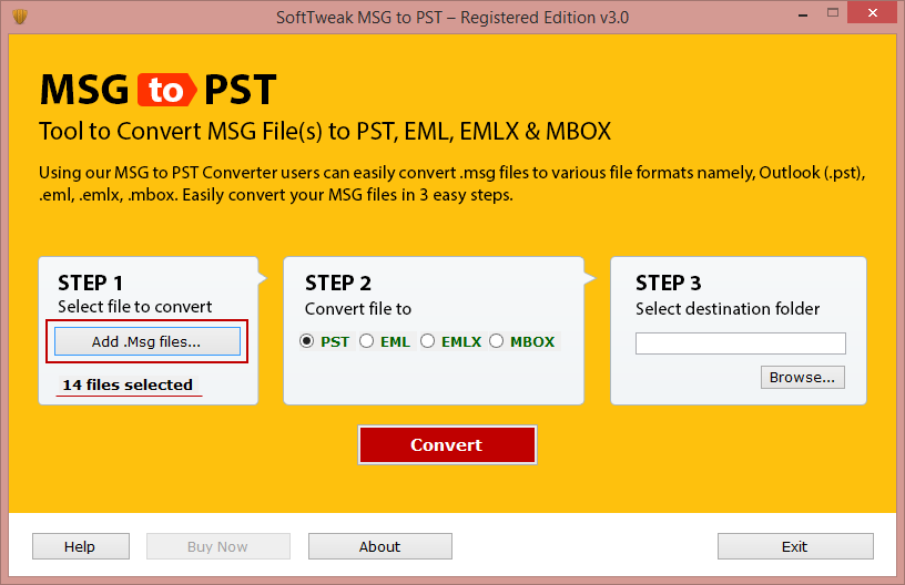 outlook move emails to pst file