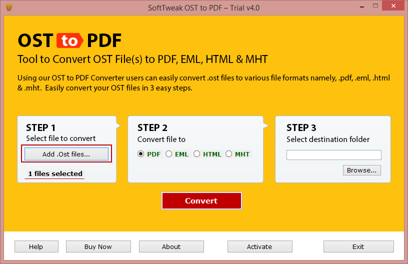 OST to PDF Conversion Tool 4.0